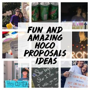 Fun and amazing hoco proposals ideas