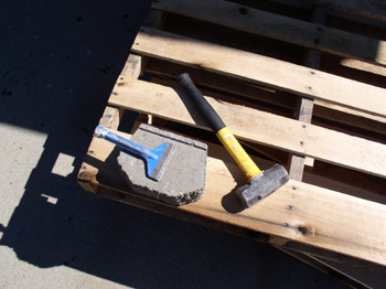 Hammer, Chisel, and Brick