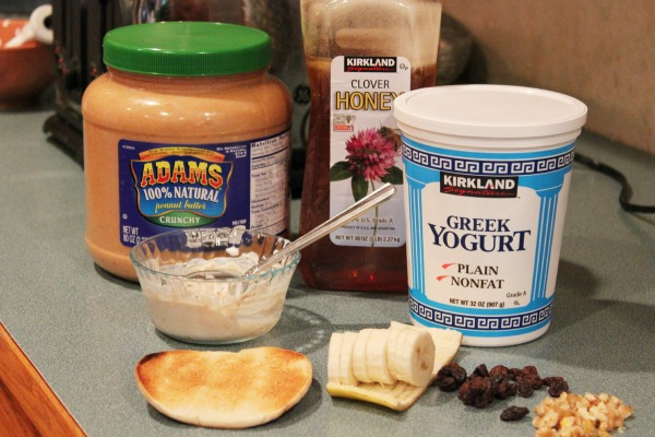 Loaded Healthy Toast with Peanut Butter and Greek Yogurt Spread