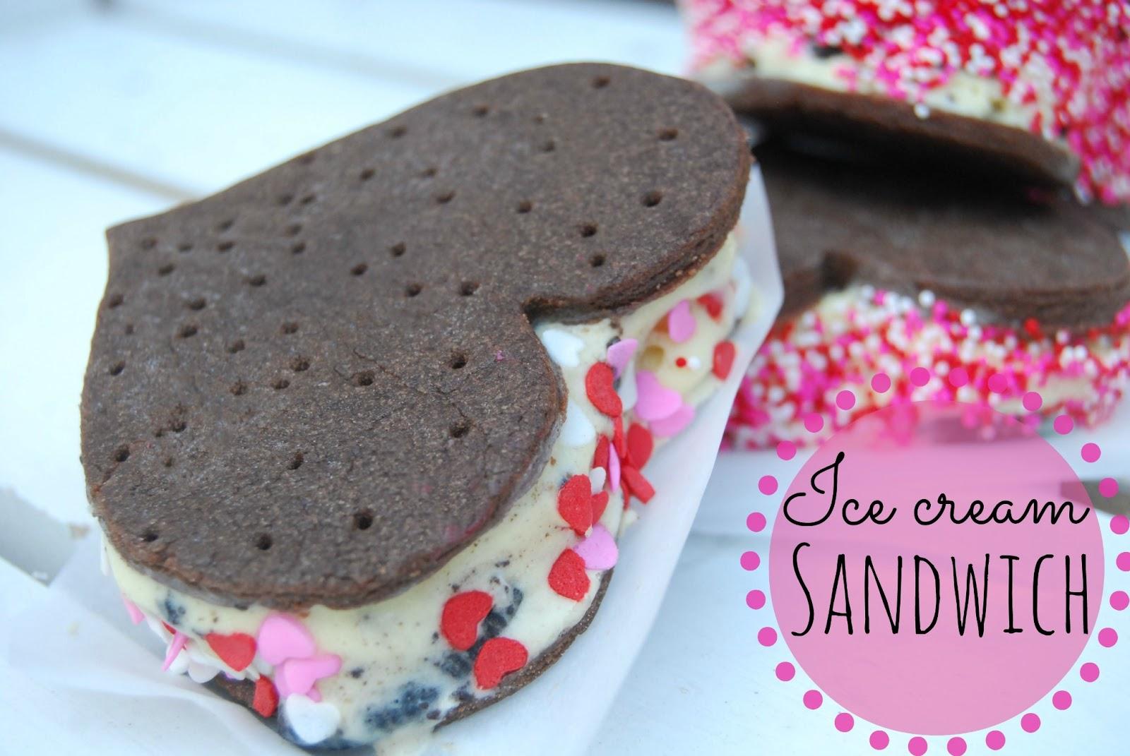 Homemade Ice Cream Sandwiches with homemade Ice cream