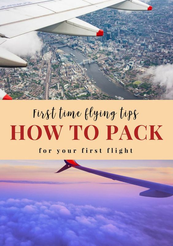 First time flying: How to pack for your first flight