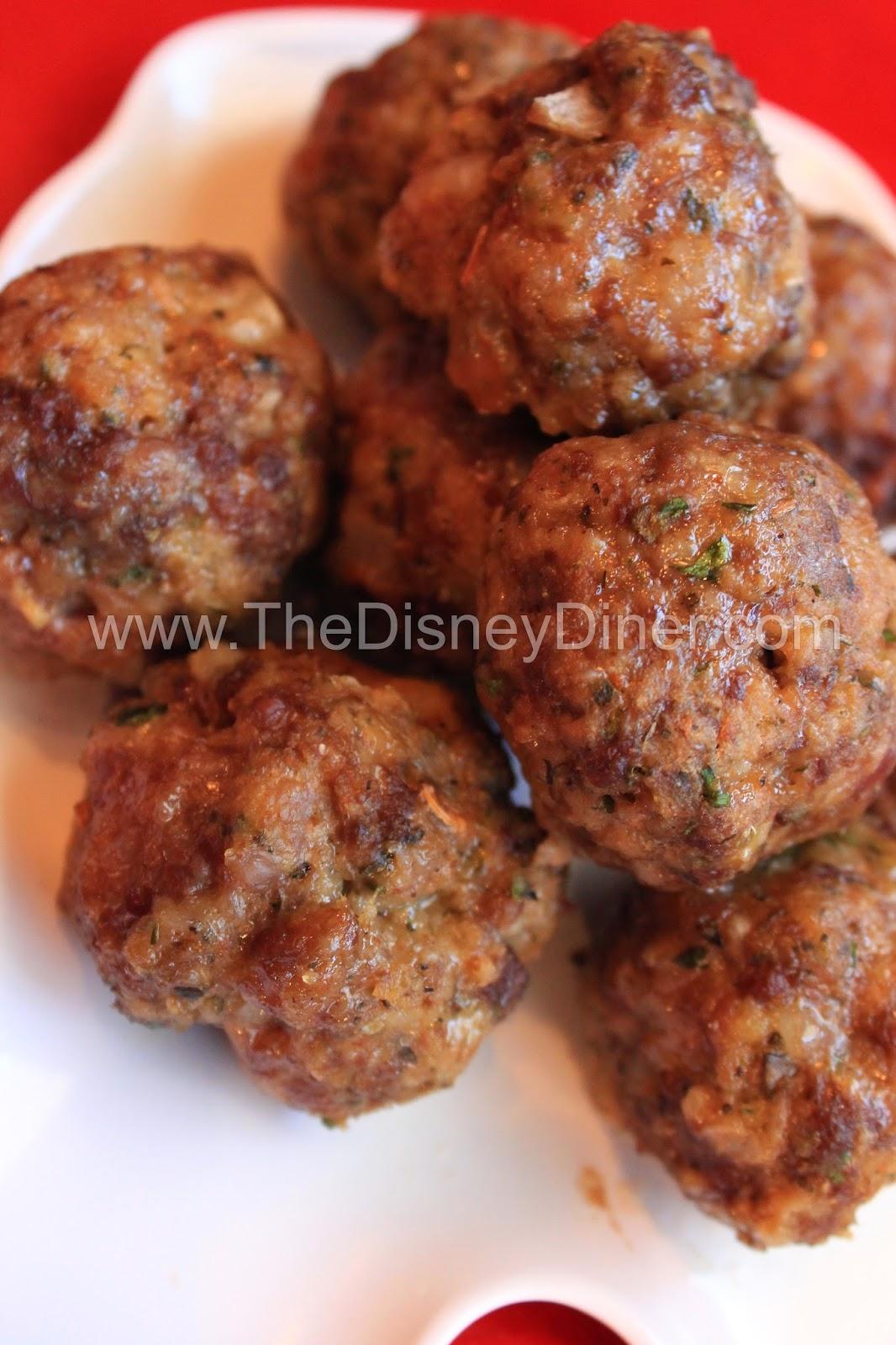 Italian Meatballs Recipe from Tony's Town Square (Magic Kingdom)