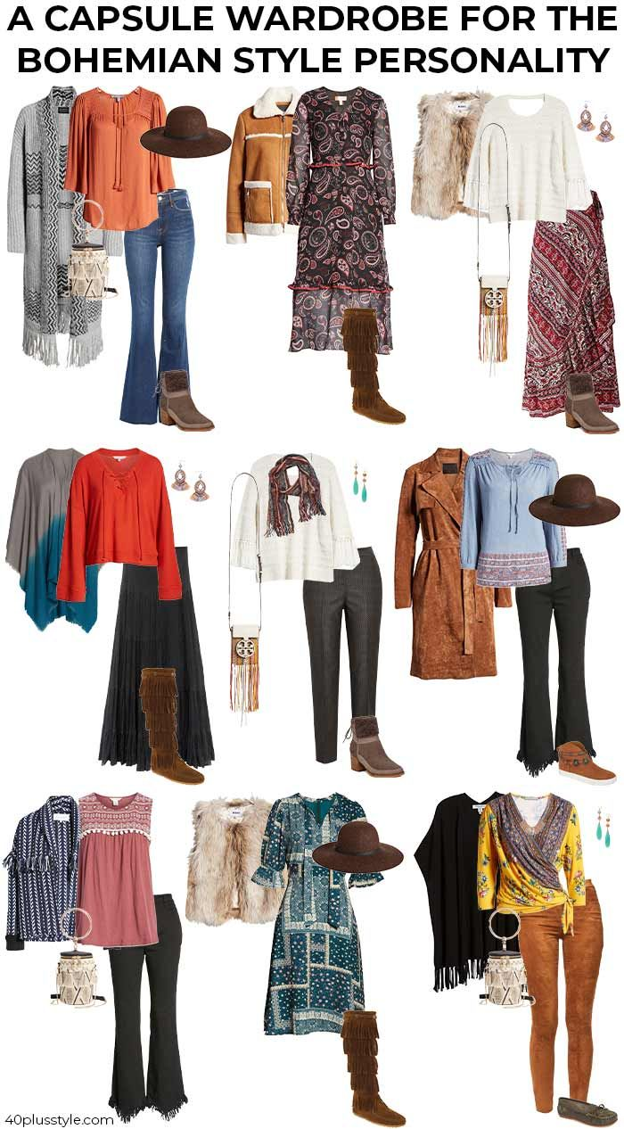 bohemian style - a style guide and capsule wardrobe for women -   22 style Guides type ideas