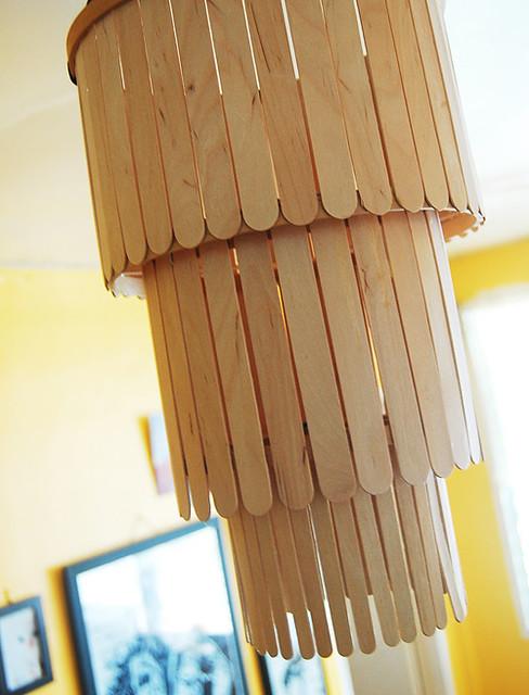 DIY POPSICLE STICK CHANDELIER: AN ADDENDUM