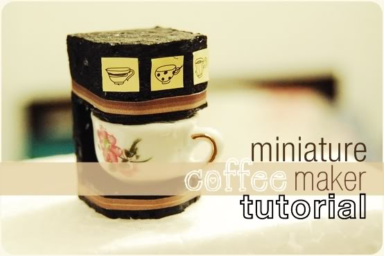 Mini coffee maker for dollhouse