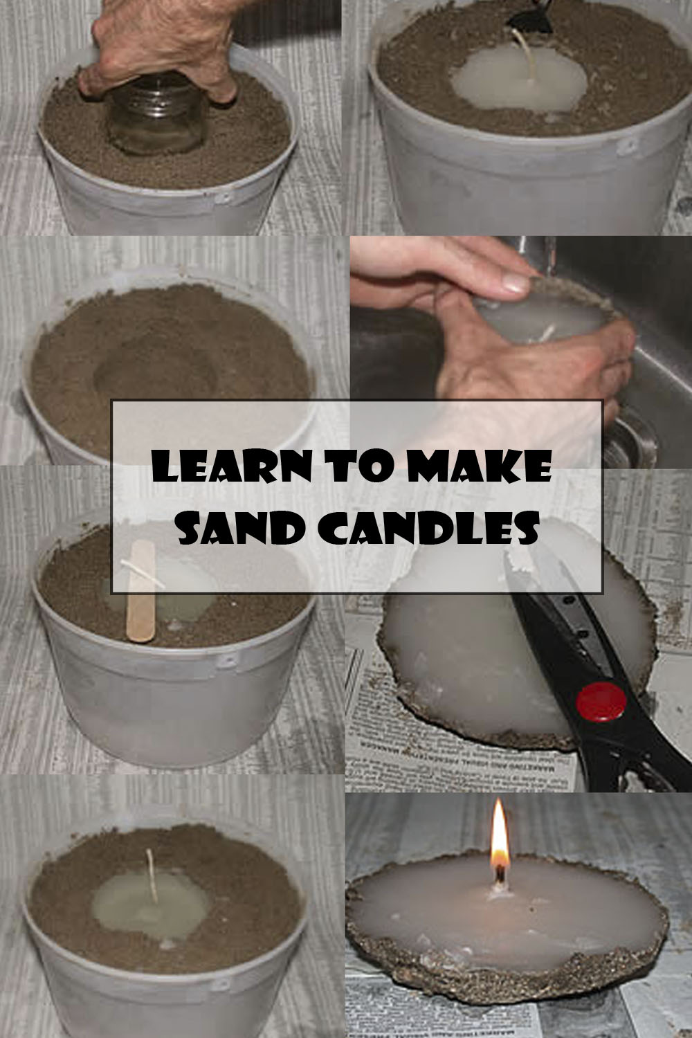Learn to Make Sand Candles