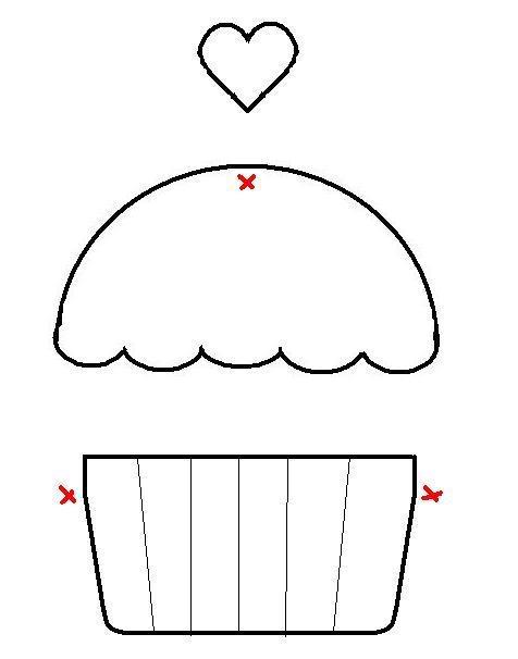 How to make a simple cupcake applique