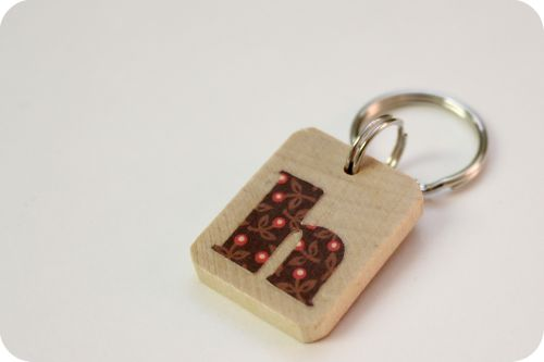 Tutorial: monogram key chain