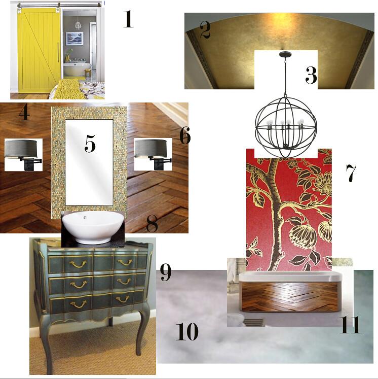GLAMOROUS BATHROOM DESIGN BOARD