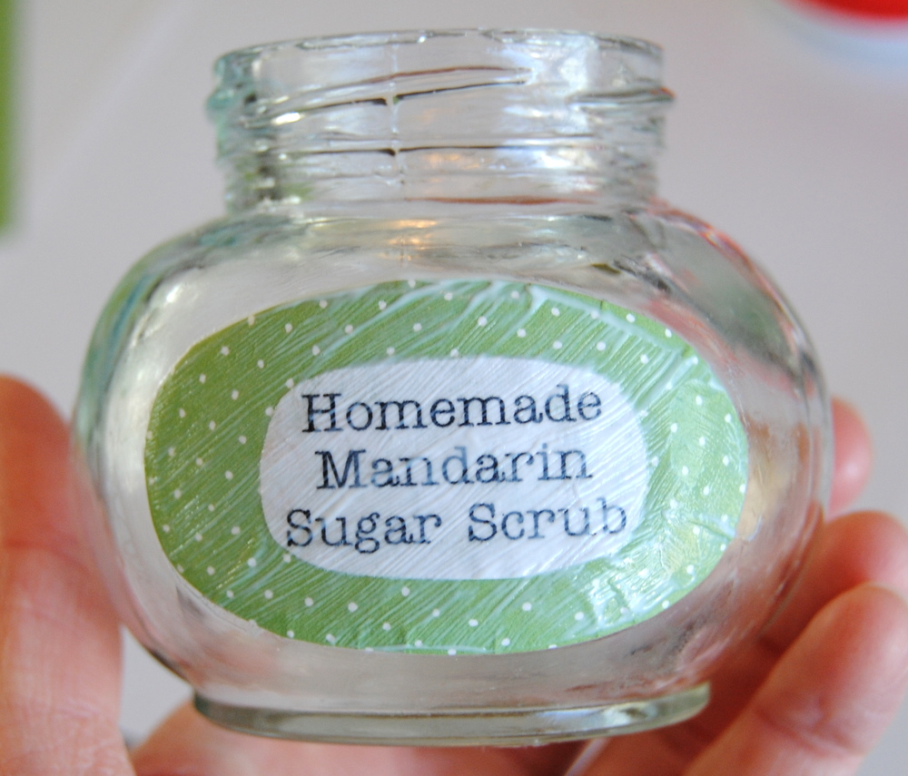 Baby Shower Gift :: Homemade Sugar Scrub in Decorated Jars