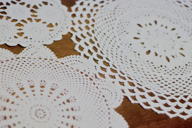 a doily table runner