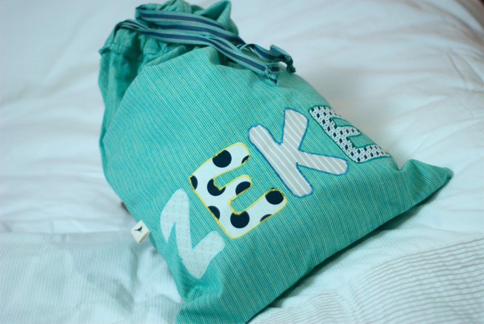 a drawstring bag