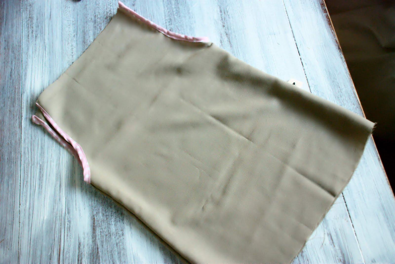 drawstring dress tutorial
