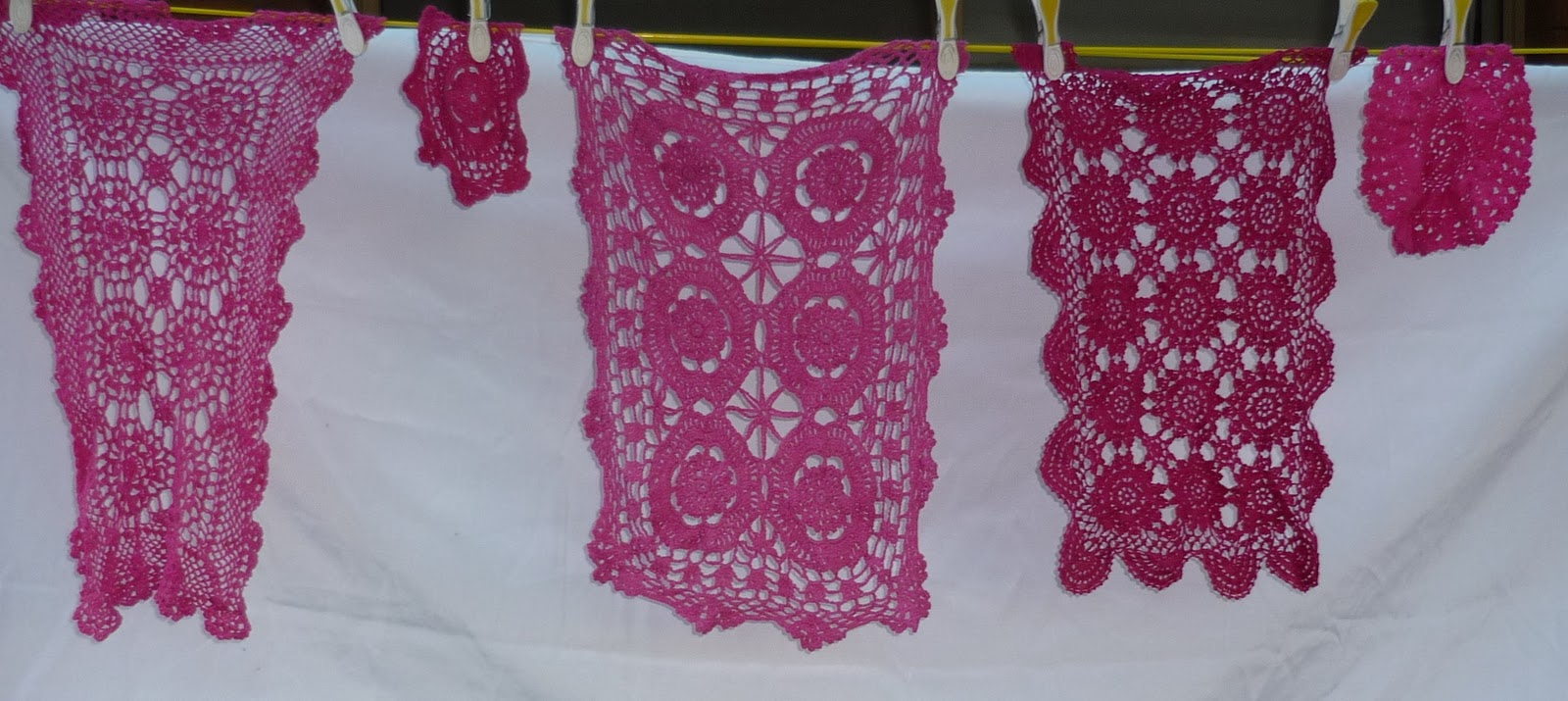 Dying Fabric – Doilies – A Tutorial