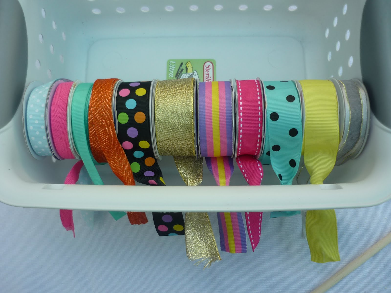 Ribbon Basket Storage – DIY
