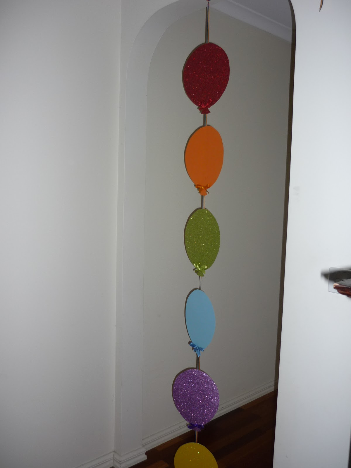 Paper Balloon Banner – Rainbow Party