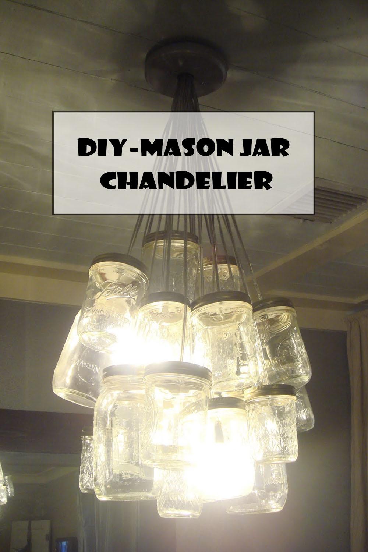 DIY-MASON JAR CHANDELIER