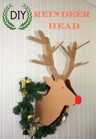 DIY – Reindeer Cardboard Head