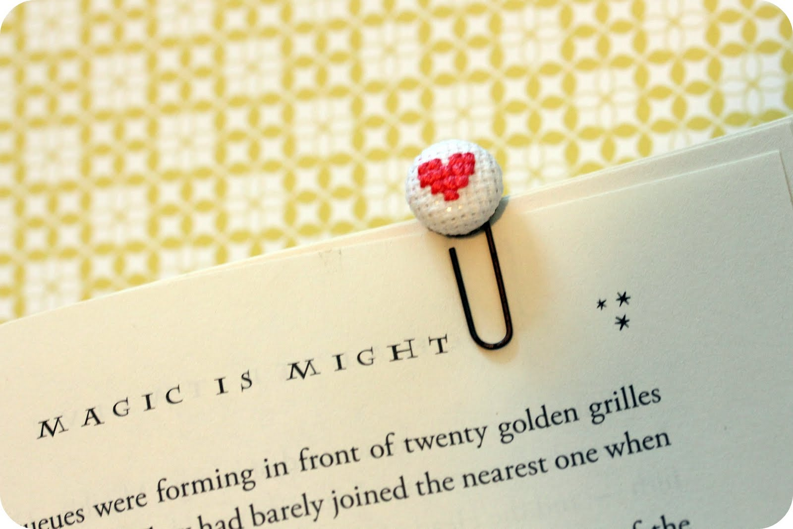 Fabric button bookmarks