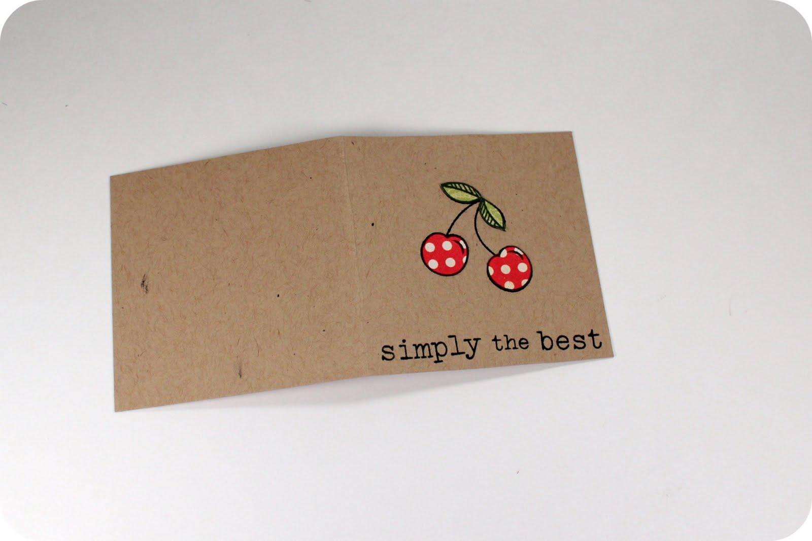 Tutorial: fruit mini cards