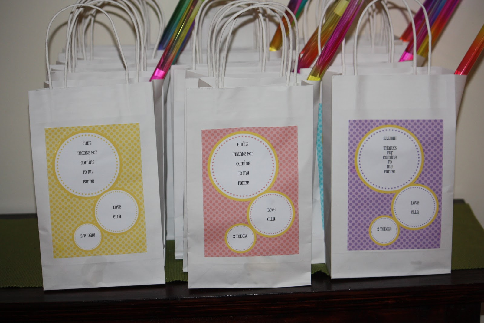 Water Bottle Labels – Rainbow Party!