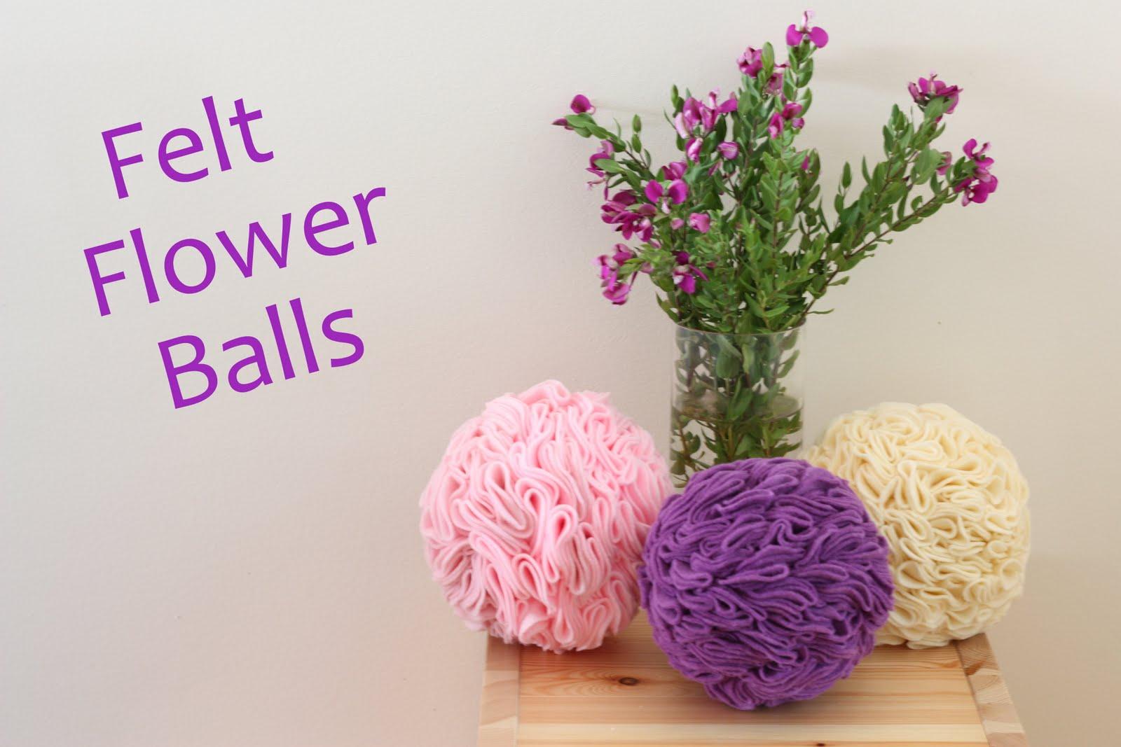 Felt Flower Ball