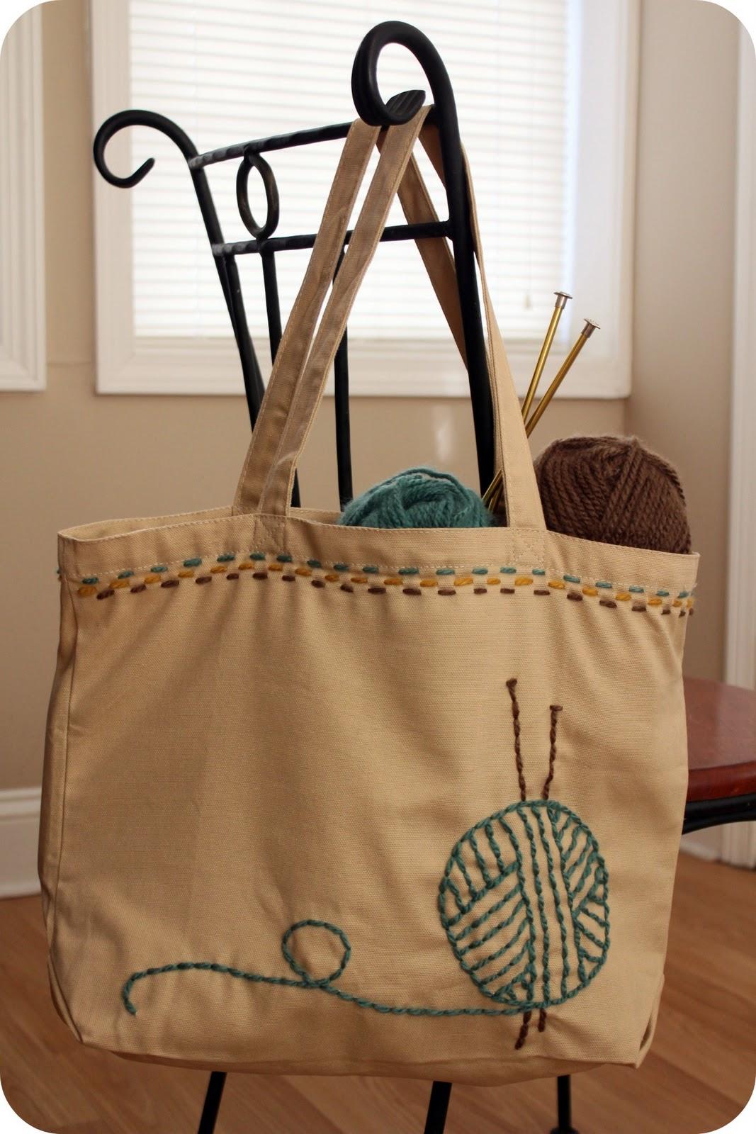 Tutorial: knitting bag