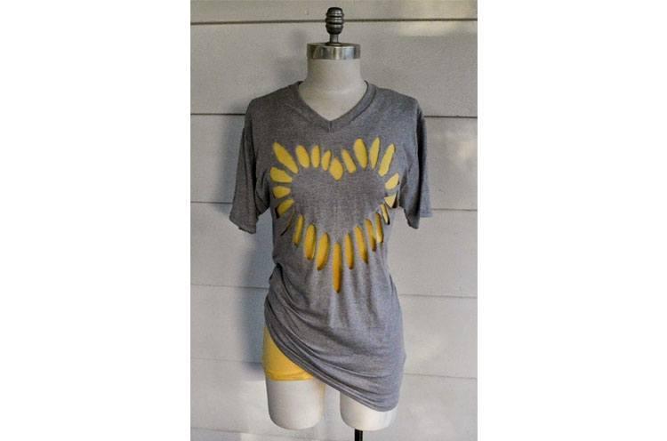 16. Heart Cut-Out: -   DIY T-Shirt Cutting Designs