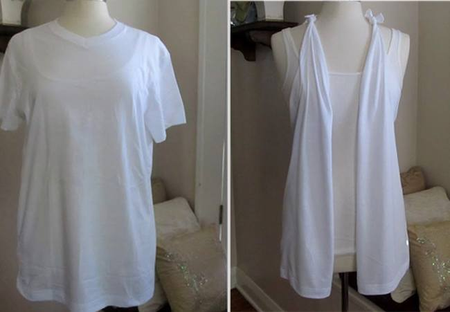 10. Sexy Shrug: -   DIY T-Shirt Cutting Designs