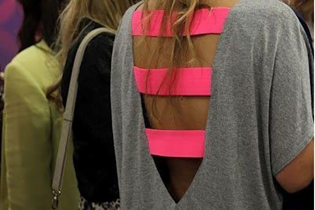 7. Strap Back: -   DIY T-Shirt Cutting Designs
