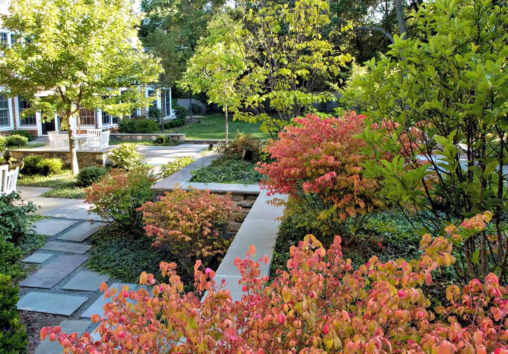 Bluestone Hardscape -   Beautiful Low Maintenance Front Yard Garden and Landscaping Ideas