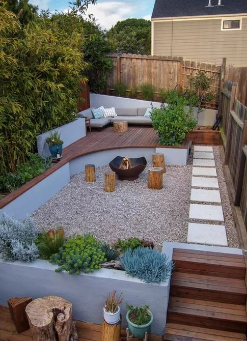 Potrero Hill Yard with a View -   Beautiful Low Maintenance Front Yard Garden and Landscaping Ideas