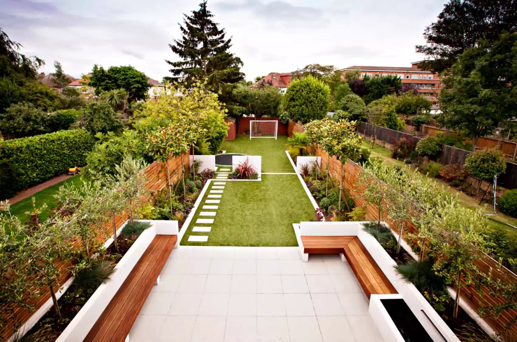 Long Garden in Strawberry Hill -   Beautiful Low Maintenance Front Yard Garden and Landscaping Ideas