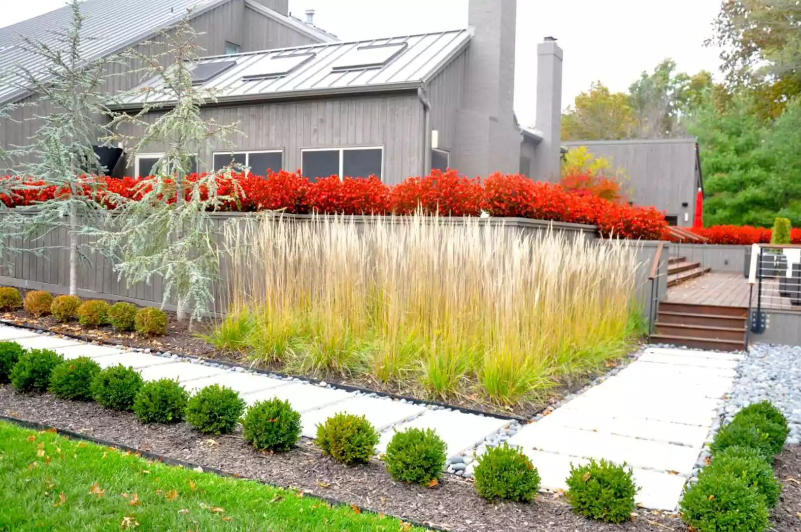 Kansas City Contemporary -   Beautiful Low Maintenance Front Yard Garden and Landscaping Ideas