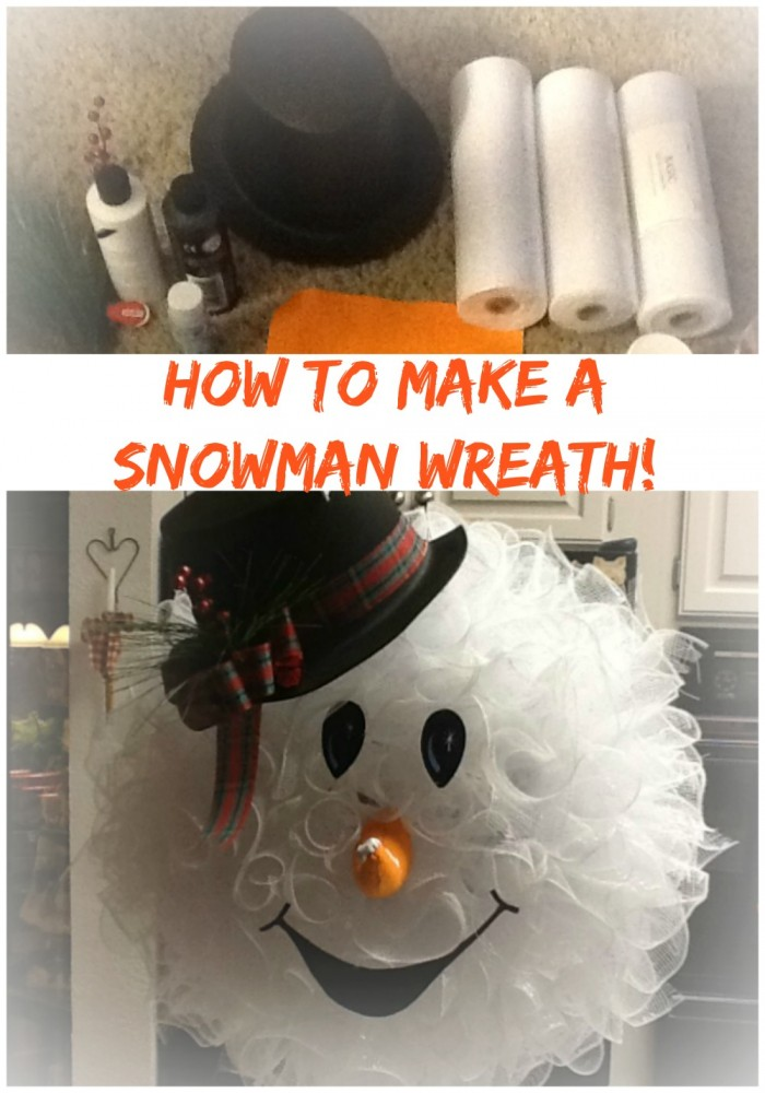 HOW TO MAKE A SNOWMAN WREATH -   Super Cute DIY Christmas Projects