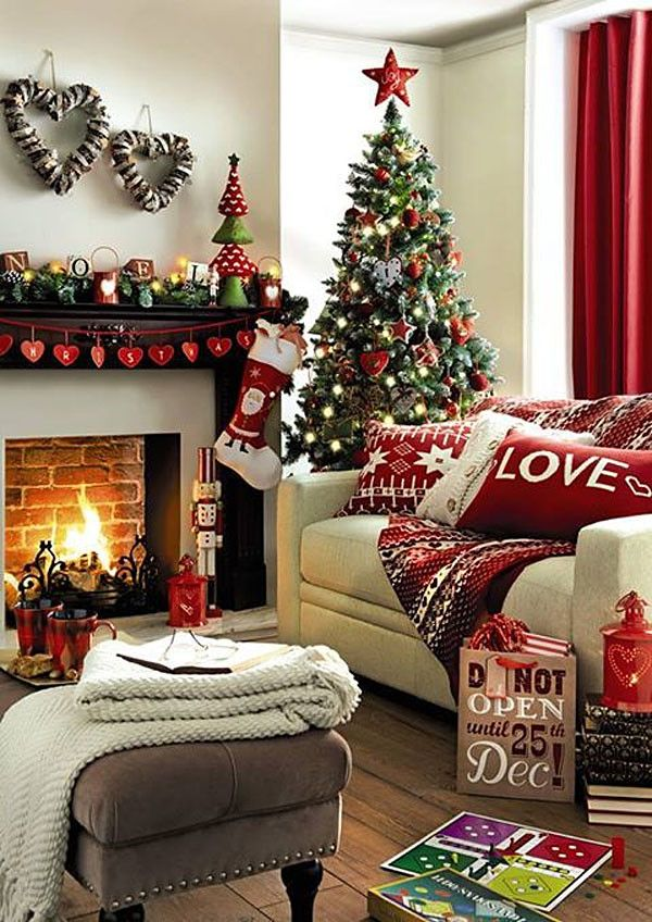 How to Decorate for Christmas in Small Spaces - living after midnite -   How to decorate living room for christmas