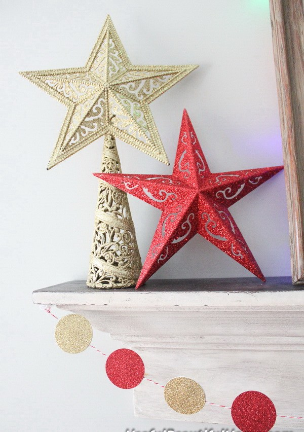 Easy DIY Glitter Stars -   DIY Dollar Store Christmas Decoration Ideas