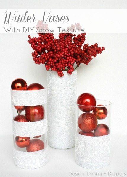 Winter Vases -   DIY Dollar Store Christmas Decoration Ideas