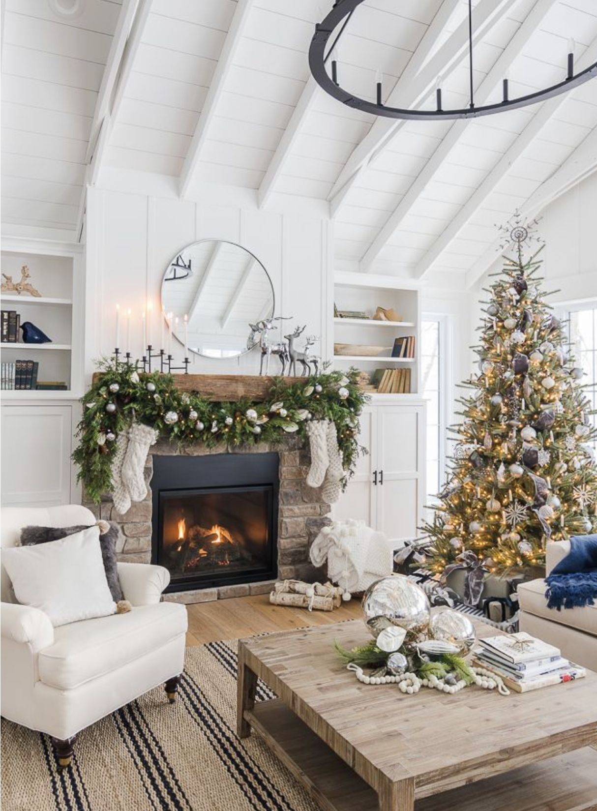 Indoor Christmas Decorations -   How to decorate living room for christmas